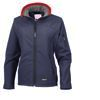Ladies navy soft shell jacket Featherbed Pony Club