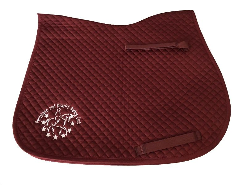Penistone and District RC Burgundy GP Saddlecloth