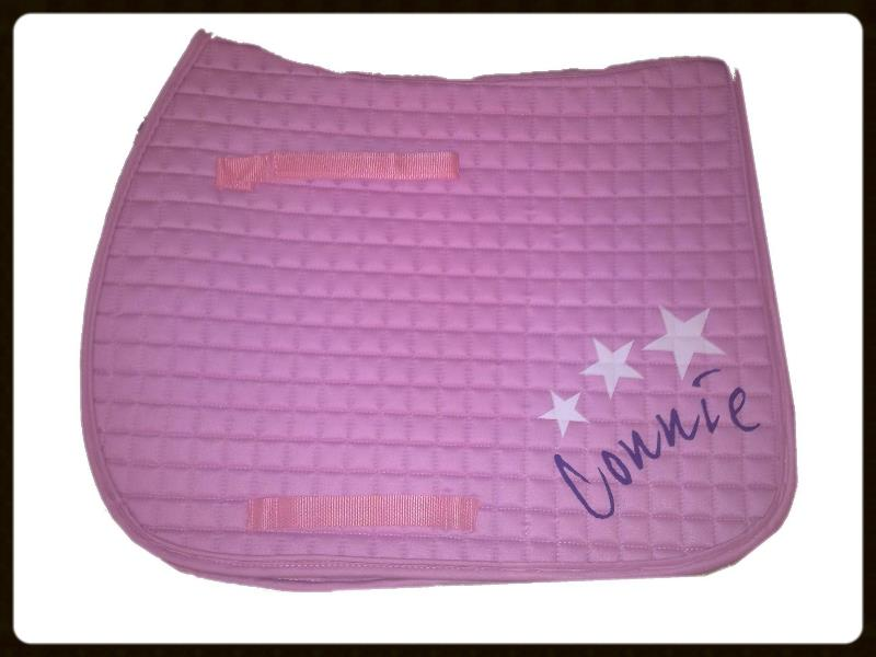 Personalised Baby Pink Saddlecloth