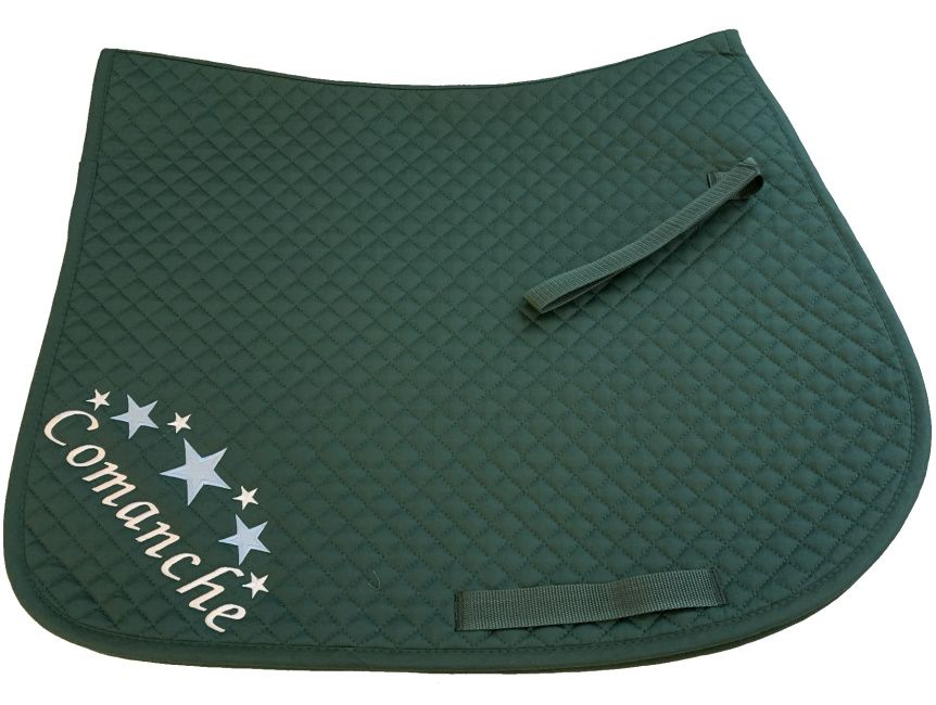 Personalised Bottle Green GP Saddlecloth