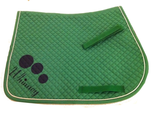 Personalised Emerald Green GP Saddlecloth