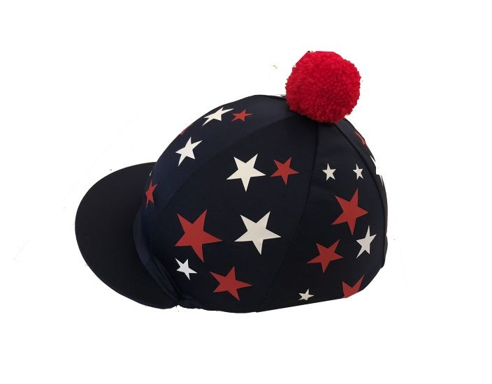 St Joseph's College Navy silk with scattered red/white stars and red pompom