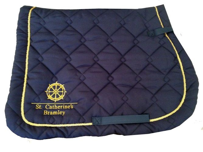 St. Catherine's Navy Saddlecloth