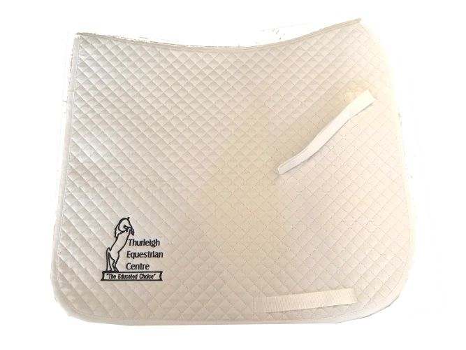 Thurleigh Equestrian Centre Dressage Saddle Cloths White/Navy