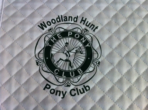 Woodland Hunt PC  White General Purpose Saddlecloths