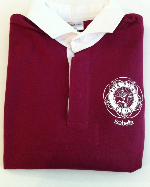 York & Ainsty North Adults Long Sleeved Burgundy Rugby Shirt