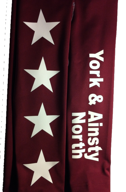 York & Ainsty North Childrens Burgundy Base Layers