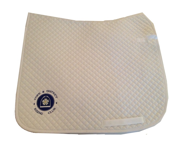 York & District Riding Club White Dressage Saddlecloths