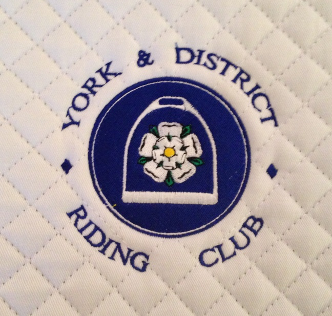 York & District Riding Club White General Purpose Saddlecloths